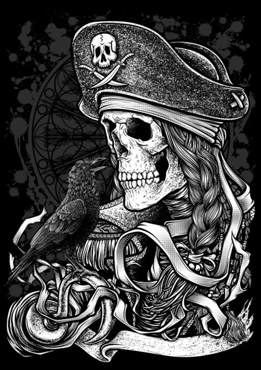 Winya 52 - illustration, crow, pirate - winya | ello