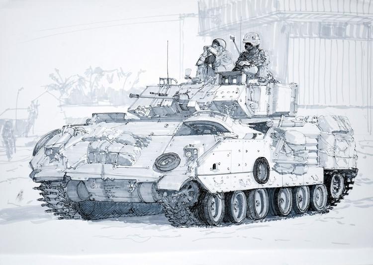 M2 Bradley Vehicle Tria Markers - jandraws   ello
