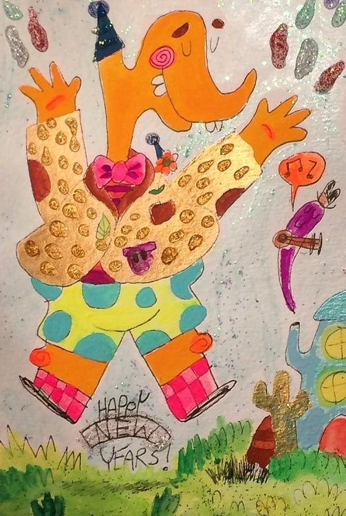 Happy Year - illustration, characterdesign - doodlesbymack | ello
