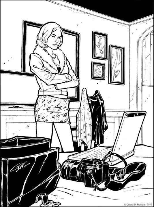 Spy Woman - inktober 2015 - illustration - chiaradifrancia | ello