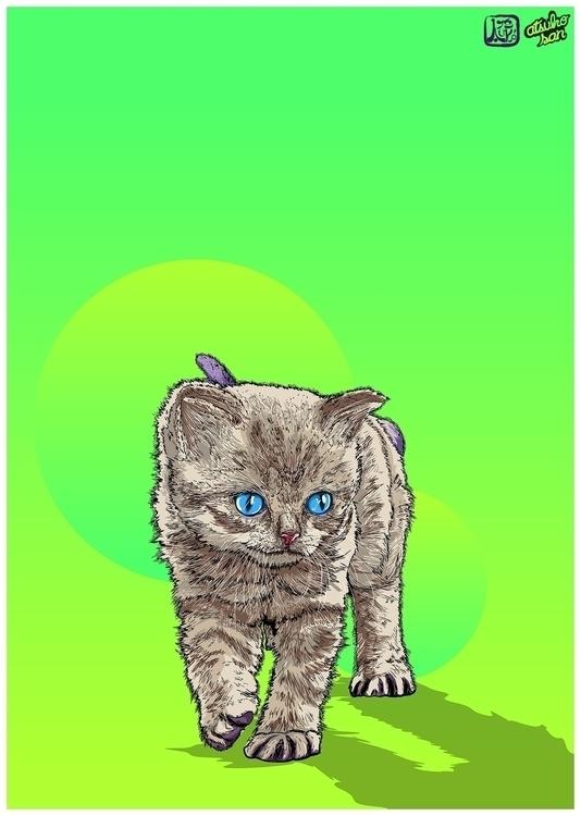 art, illustration, cats, animals - atsukosan-3588 | ello