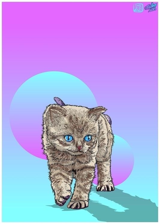 illustration, drawing, cat, cats - atsukosan-3588 | ello