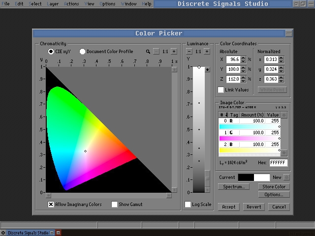 Discrete Signals color picker m - punpcklbw | ello