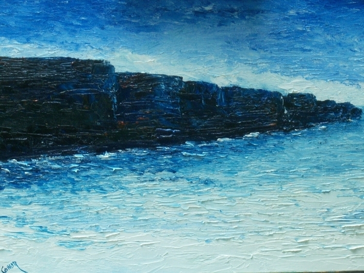 Cliff original painting SOLD or - irishart | ello