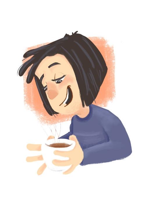 coffee love - characterdesign, character - cjwords   ello
