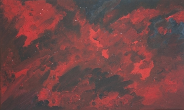 Magda 1# Distemper canvas, 30x4 - jandraws | ello