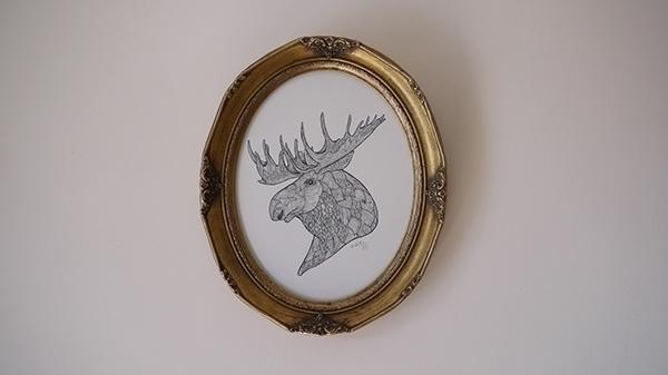 Moose - illustration, moose, sketch - kwebberillustrations | ello