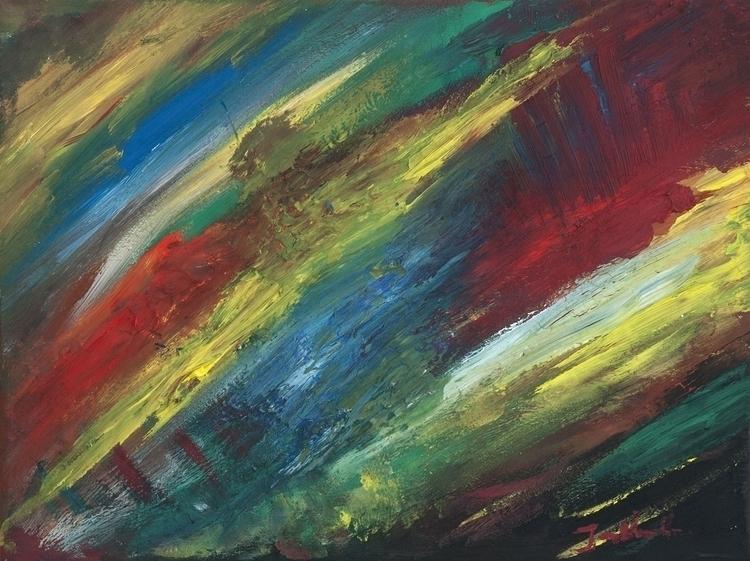 Easter Distemper canvas, 30x40  - jandraws | ello