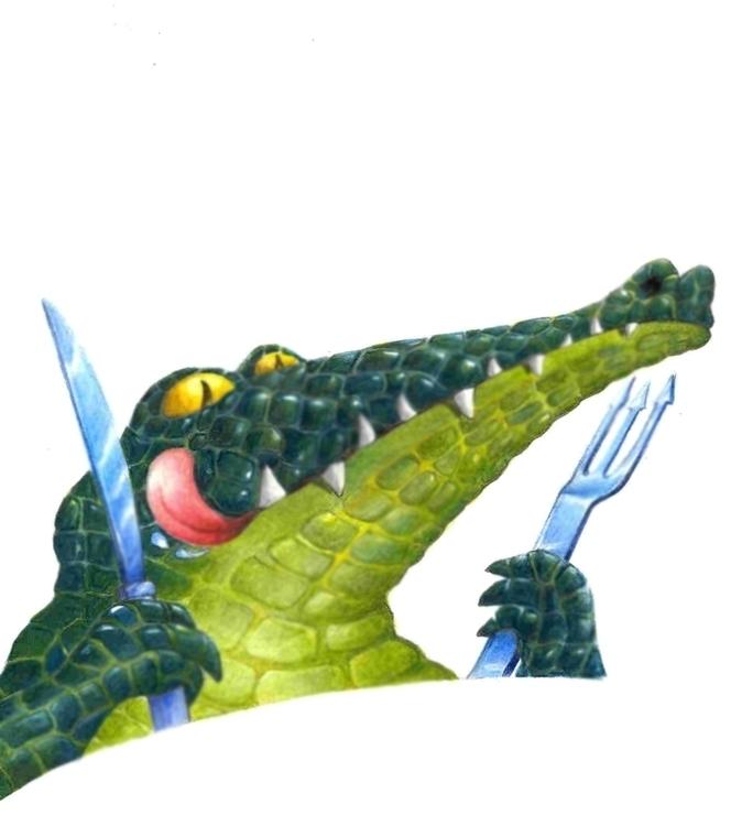 CROCODILE - crocodile, knife - dorianostrologo | ello
