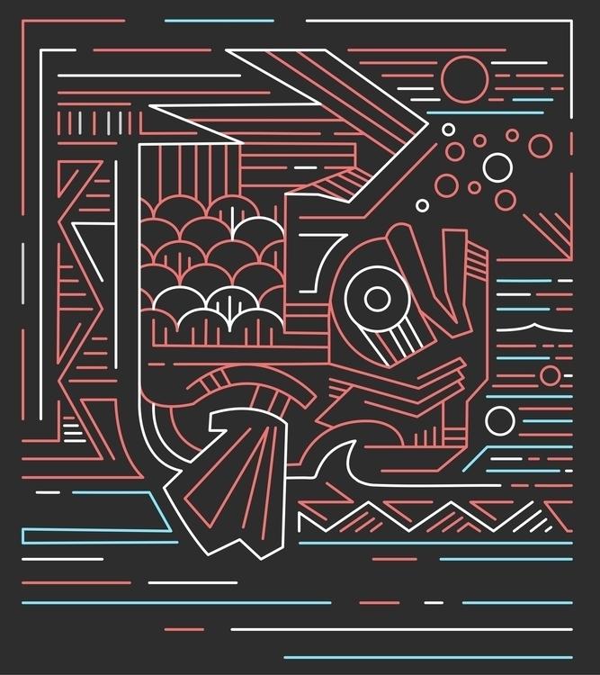 Koi fish dc - koi,fish,japanese,lines,minimal,abstract,contemporary,modern,digital,illustration,water,bubbles,animal,fins,scales,swim,river, - bernardojbp | ello