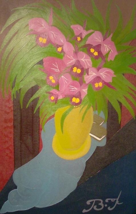 La vase de 150cmx100cm oil canv - bakkach | ello