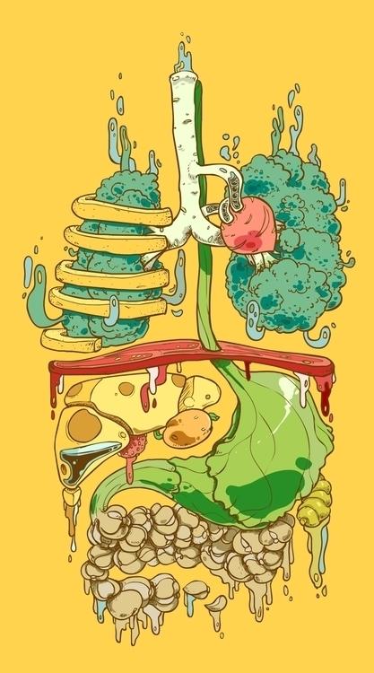 Organ Food - illustration, organ - xuan_bachtruong | ello