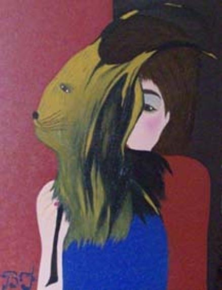 Le masque 80cm 60cm oil canvas  - bakkach | ello