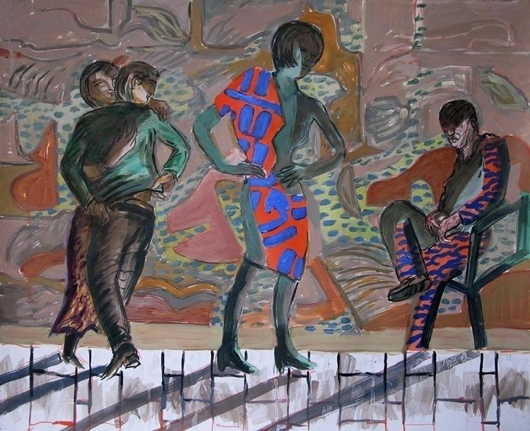 Family Visit - painting, frankcreber - frankcreber | ello