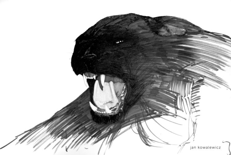 Kuguar Tria Markers, B2 - cat, wild - jandraws   ello