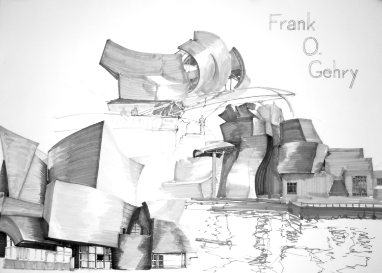 Frank Gehry - architecture stud - jandraws | ello