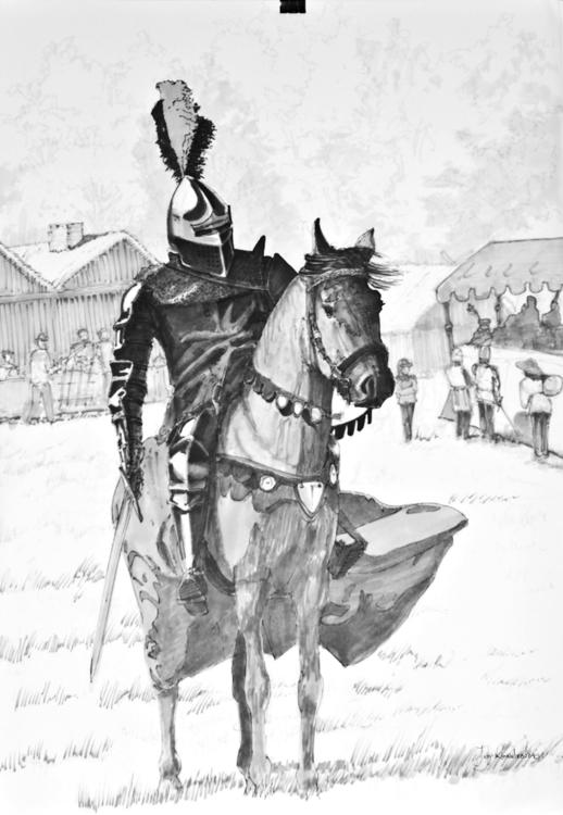 knight Tria Markers, B2 - medieval - jandraws | ello