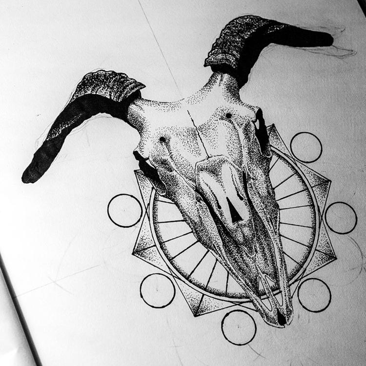 Goat - illustration, drawing, drawing - karolina-4327 | ello
