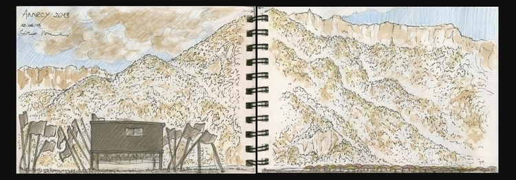 Annecy - sketch, sketchbook, landscape - cristinaporcelli | ello