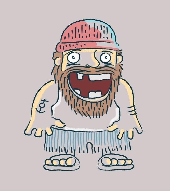 Toothless sailor - sailor,toothless,man,anchor,sea,ocean,beard - bernardojbp | ello