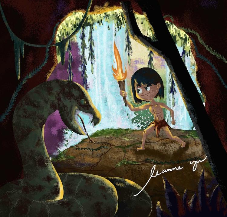 Jungle Book - illustration, characterdesign - leannepet   ello