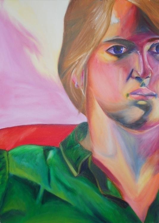 portrait, painting, oiloncanvas - sarahallis | ello