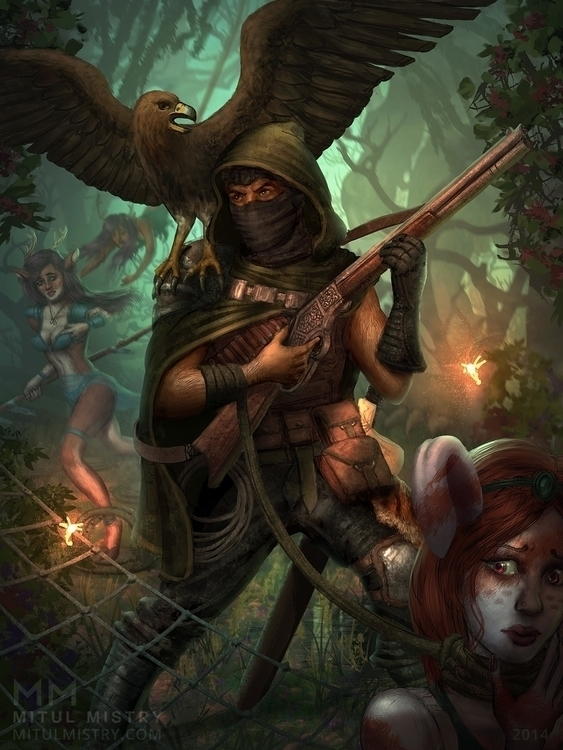 Hunter - hunter, fantasy, digitalart - mitulmistry   ello