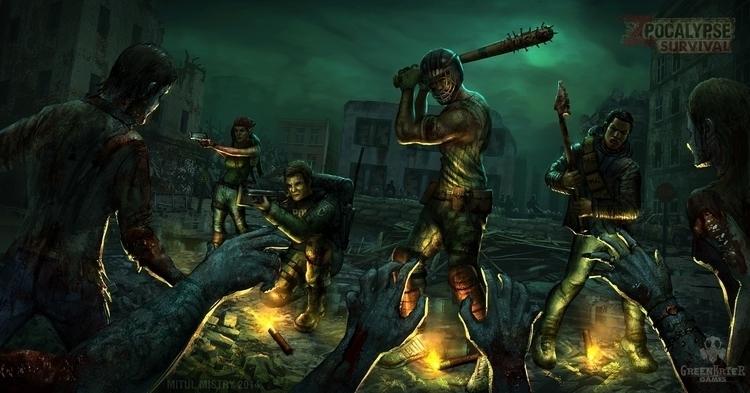 Zpocalypse Survival promo illus - mitulmistry | ello