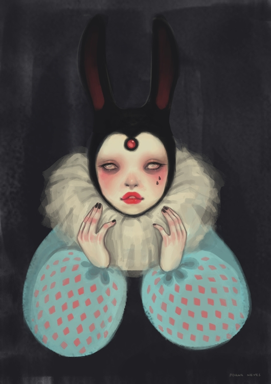 bunny, art, digitalart, digitalillustration - joananevesart | ello