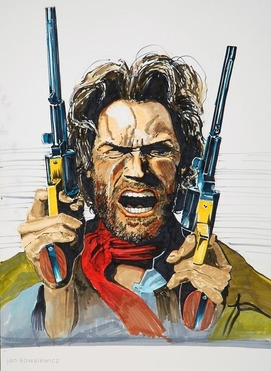 Outlaw Josey Wales, poster Tria - jandraws | ello