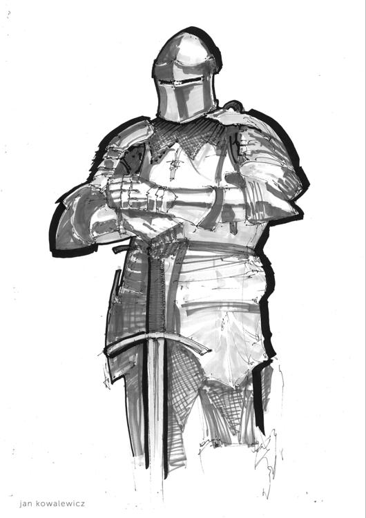 knight Tria Markers, A3 - jandraws - jandraws | ello