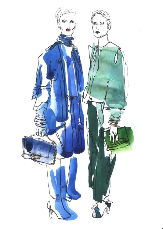 illustration, fashion, dianevonfurstenberg - annagranat | ello