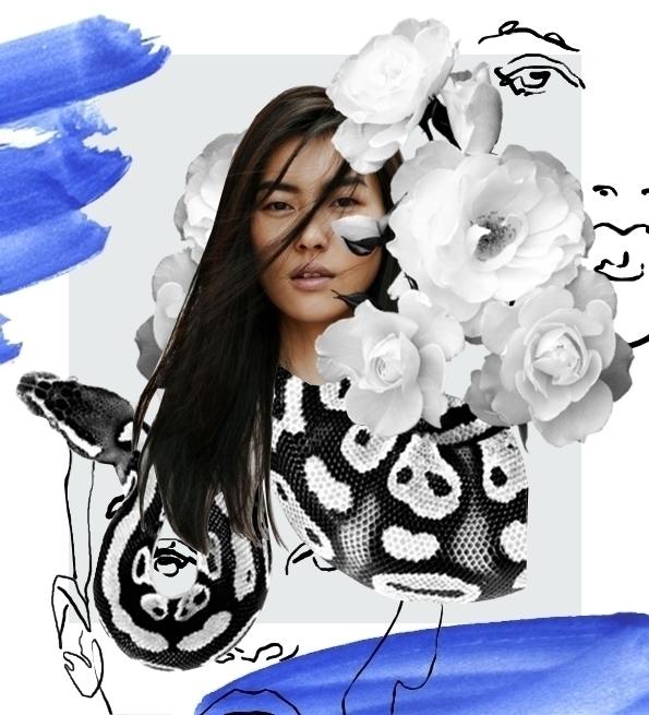illustration, fashion, collage - annagranat | ello