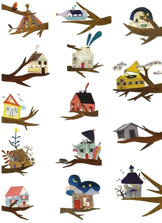 Tree houses - treehouse, illustration - mariannacoppo | ello