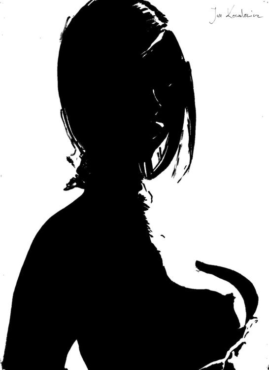 girl corset Black marker + fine - jandraws | ello