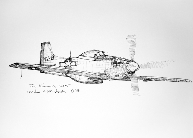 Fighter Ink paper, A3 - plane, aircraft - jandraws | ello