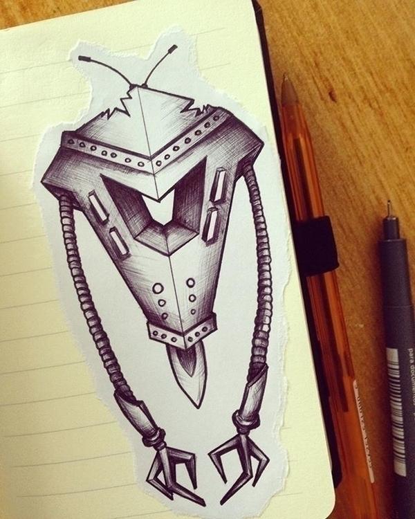 Robotics 1.5 - illustration, characterdesign - mp-1845 | ello