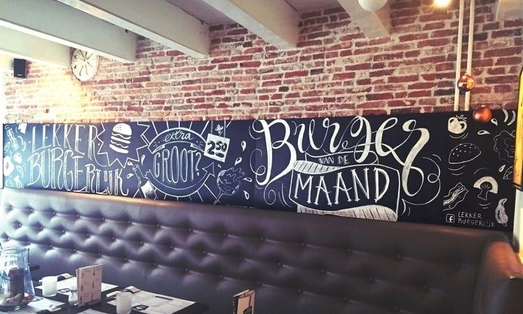 mural burger restaurant Lekker  - kellybreemer | ello