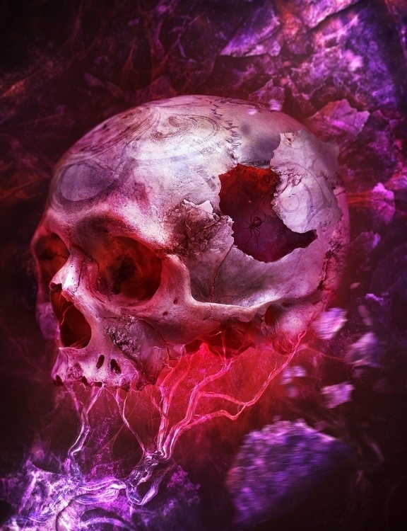 skull, veins, digitalart, photomanipulation - pboro | ello