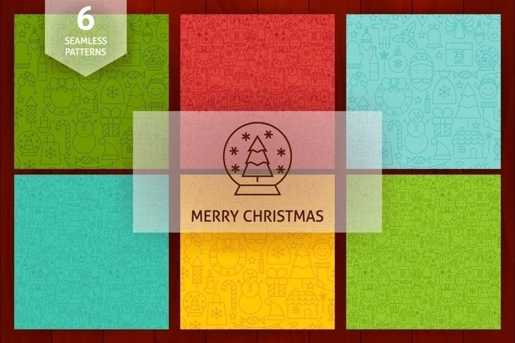 Merry Christmas Line Seamless P - anna_leni | ello