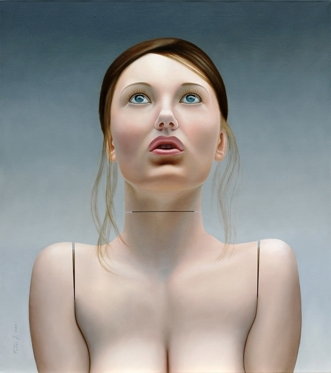 Clara, oil/canvas, 100 90 cm - painting - jozz-1181 | ello