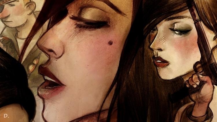 deda wuz - illustration, girl, sassy - dedadarko   ello