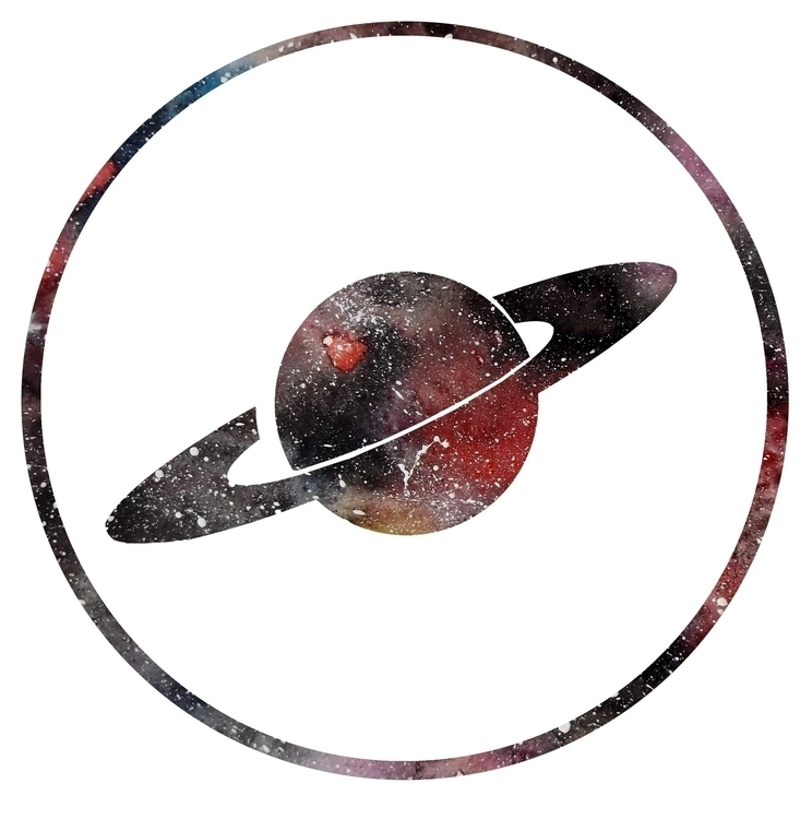 Galaxy/ planet logo idea - illustration - izzywoolley | ello