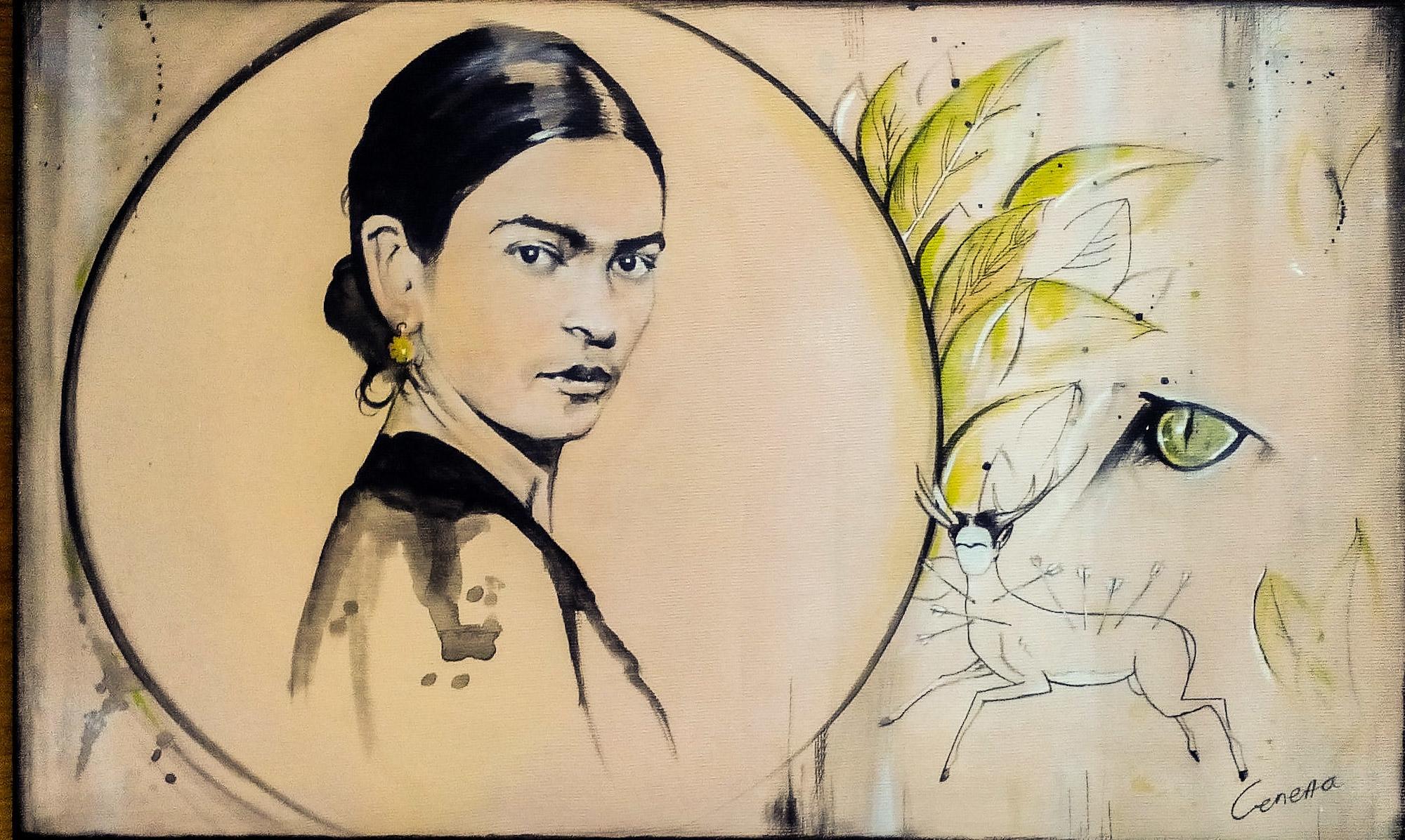 Frida - fridakahlo, painting, portraiture - selenatabakovic   ello