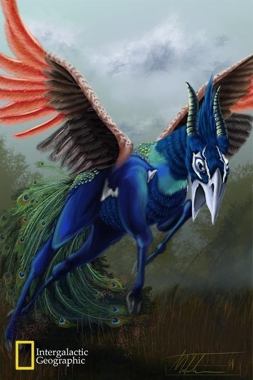 griffon, mixed gazelle peacock - mthacker | ello