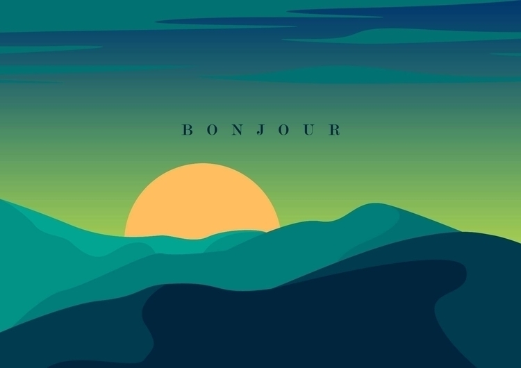bonjour - illustration, design, environment - dnscr | ello