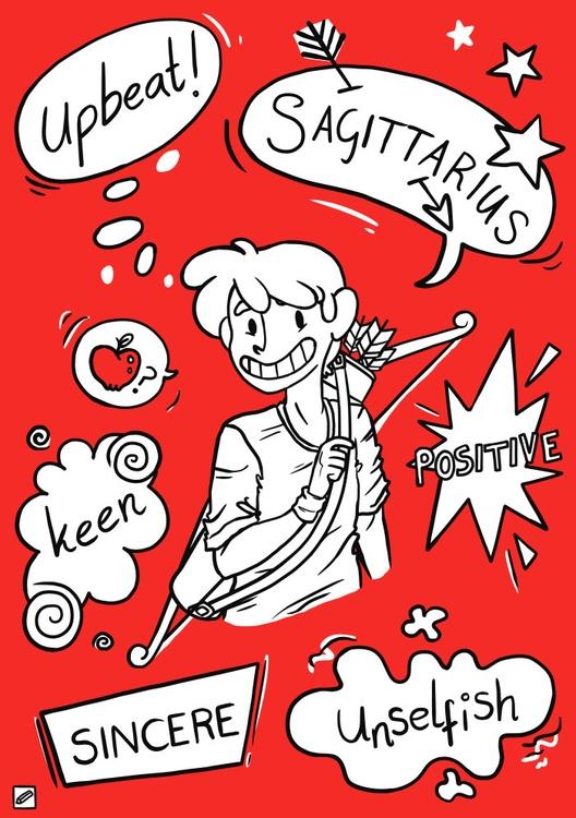 Sagittarius - illustration, zodiac - pencilboxillustration | ello
