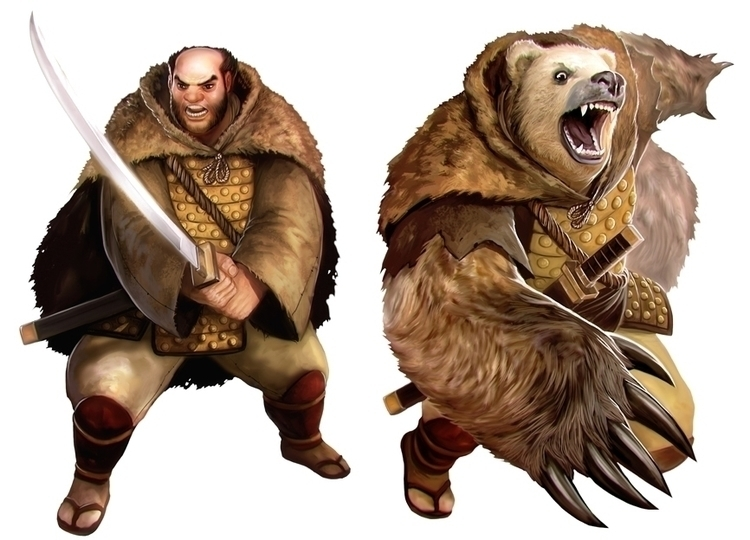 Character Samurai Spirit - bear - victorperezcorbella | ello
