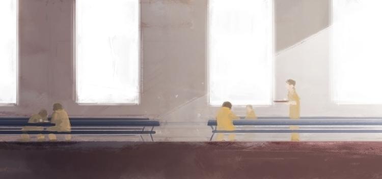 Lunch break - prison, jail, spitpaint - flightlessbutstilltrying | ello