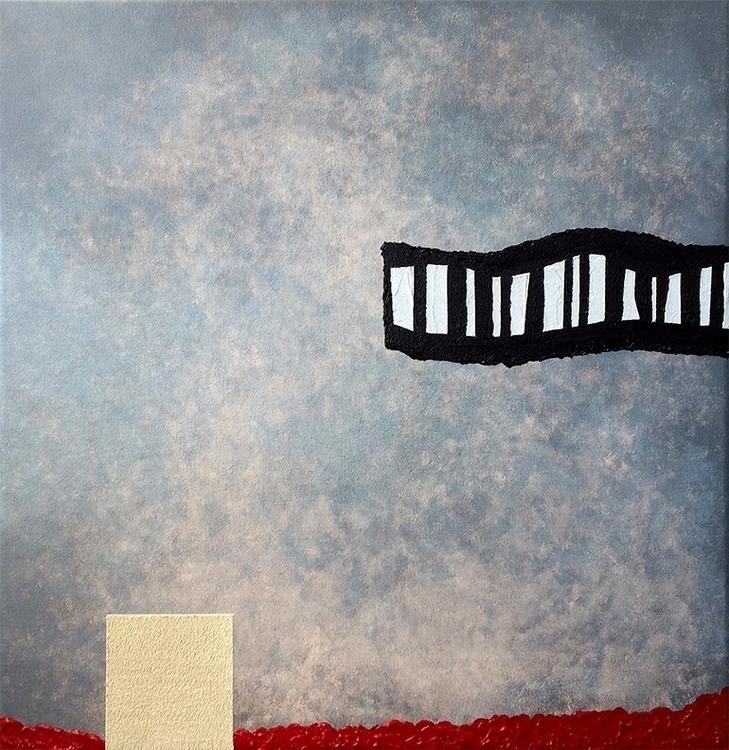 Whispering Wind 24 - painting#acrylic#acryliconcanvas#acrylicpaint#acrylicpainting#red#beige#textured - leesamclellan | ello